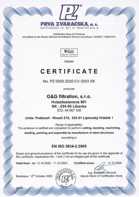 3834-2: 2005 Zavarivanje topljenjem u proizvodnji čeličnih konstrukcija